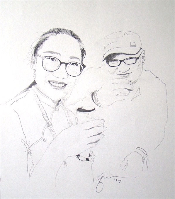 Portrait of Sun Li and Wang Zhen