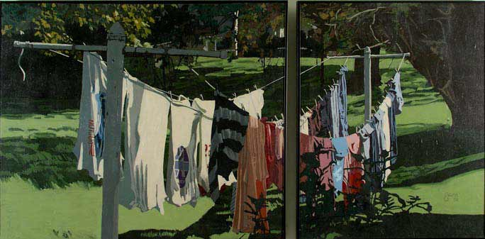 Lazy Summer Laundry 2 - Diptych